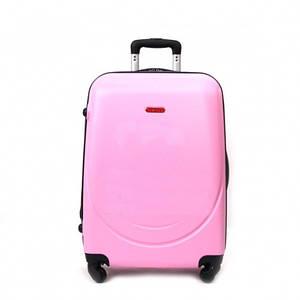 Чемодан большой пластиковый Gravitt из поликарбоната розовый 100 л