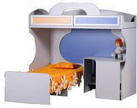 Кровать 2-х ярусная со столом Пионер