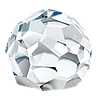 3/4 шара Preciosa (Чехия) 12 мм Сrystal