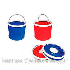 Складное ведро Foldaway Bucket на 9-11 литров, foldable bucket, тканевое ведро, походное ведро!Акция, фото 3