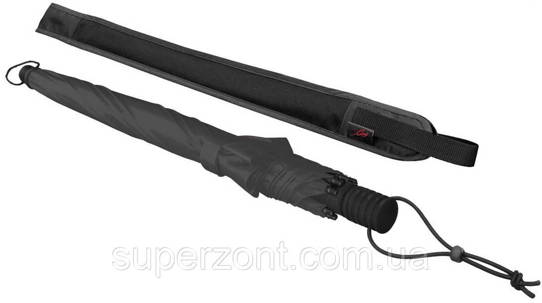 Мужской прочный механический зонт-трость EuroSCHIRM Swing Handsfree W2H69120/SU17745 синий