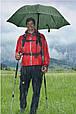 Яркий механический зонт-трость EuroSCHIRM Swing Handsfree W2H6-CW2/SU17686 фиолетовый, фото 4