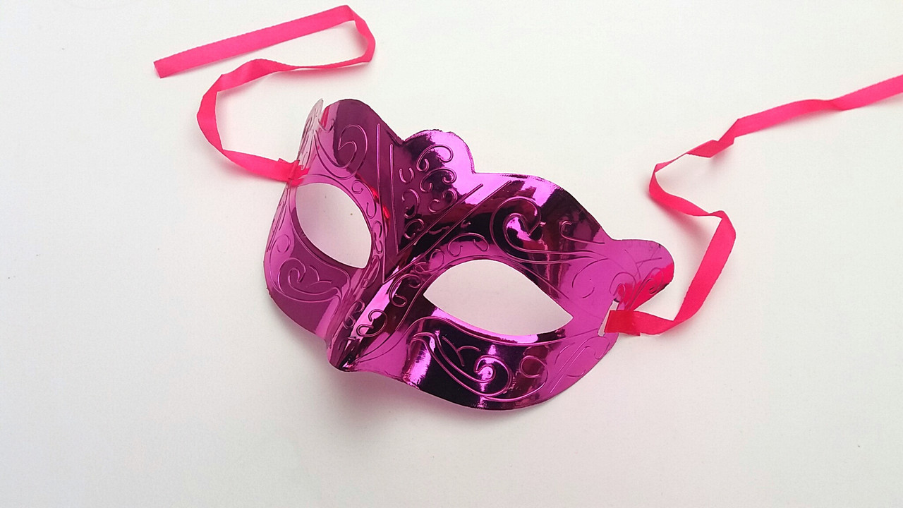 Карнавальная маска  сиреневый металик