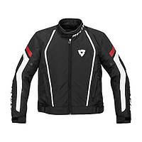 Мотокуртка Revit Apollo текстиль черная белая красная, S