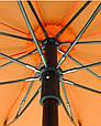 Красный механический женский зонт-трость с большим куполом EuroSCHIRM teleScope Handsfree 1H169027/SU17614, фото 4