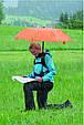 Красный механический женский зонт-трость с большим куполом EuroSCHIRM teleScope Handsfree 1H169027/SU17614, фото 7