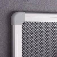 Доска 2х3 текстиль серый + металлическая сетка рамка серая 45x60 (TPA456)
