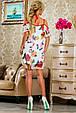 Красивое  летнее молодежное  платье 2243 белый, фото 3