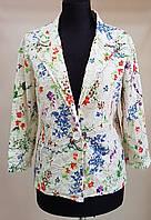 Летний пиджак из прошвы в разноцветный цветочек (Италия)