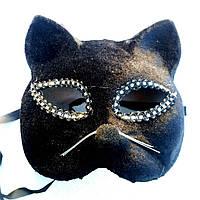 Карнавальная маска Черная кошка