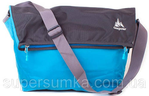 Спортивная женская сумка 20 л. на плечо ONEPOLAR (ВАНПОЛАР) W5637-blue голубая
