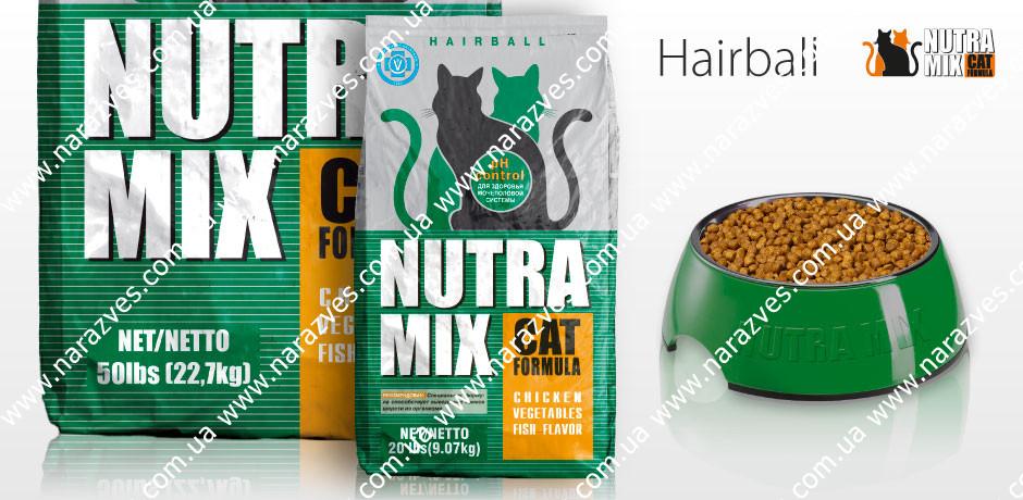 Сухой корм Nutra Mix Hairball 22.68кг