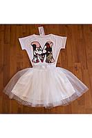 Белая юбка-пачка для девочки
