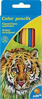 """Карандаши цветные двусторонние Kite """"Животные"""", 12 шт. / 24 цвета K15-054"""