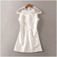 Платье женское белое с хлопковым кружевом