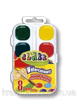 Краски акварельные медовые  8цв. CLASS 7614, фото 2