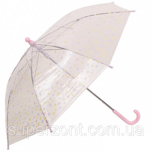 Прозрачный детский зонт-трость, механический Rainy Days, U78558-gorox, белый