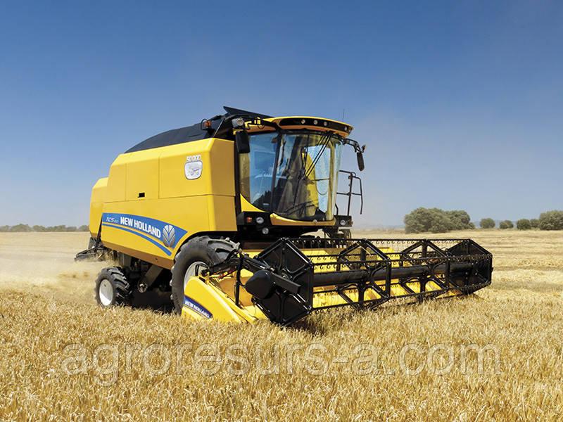 Зернозбиральний комбайн NEW HOLLAND ТС5.90 + Зерновая жатка