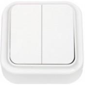 Выключатель 2-клавишный, белый, Пралеска Bylectrica