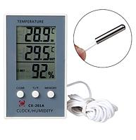 Термометр гигрометр электронный уличный/комнатный CX-201 A