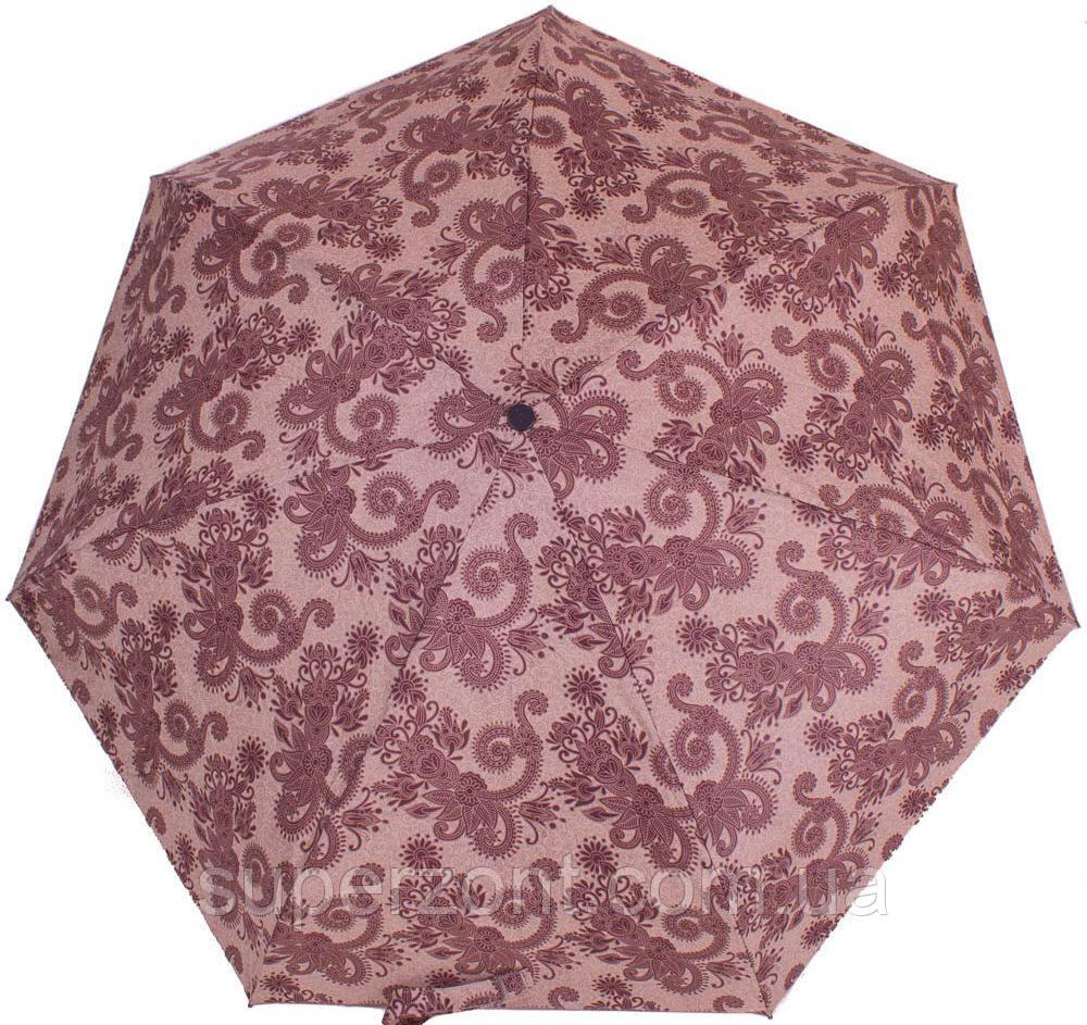 Женский качественный зонт-автомат, антиветер AIRTON (АЭРТОН)  Z4915-2377 коричневый