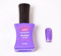 Гель лак Master Professional 10 мл №113 - Фиолетовый с блестками