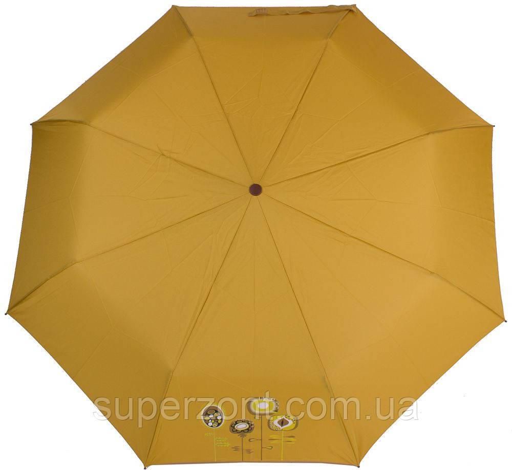 Надежный женский зонт, полуавтомат, антиветер AIRTON (АЭРТОН) Z3631NS-4182 желтый