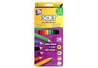 Карандаши цветные Extra Soft, 12 цветов, Cool FOR School