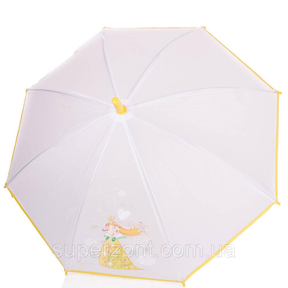 Детский зонт-трость механический облегчённый AIRTON (АЭРТОН) Z1511-01, прозрачный