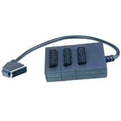 Перехідник Шт.SCART-3Гн.SCART з кабелем 0,5м (VK11122)