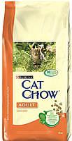 Сухой корм Cat Chow Adult Корм для взрослых кошек (индейка-курица) 15КГ