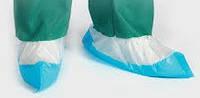Бахилы бело-голубые с двойным дном