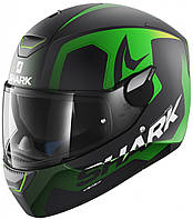 Мотошлем Shark Skwal Trion Mat черный зеленый, XL