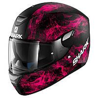 Мотошлем Shark Skwal Hiya черный розовый мат, XS