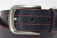 Ремень 'NewJeans' темно-синий с красными строчками