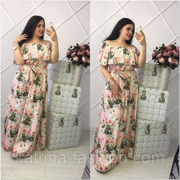 4437e9d6572 Красивое женское платье больших размеров (3 цвета)  продажа