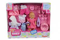 """Simba Кукольный набор Пупс New Born Baby Mini """"Переодевание"""" (5033387)"""