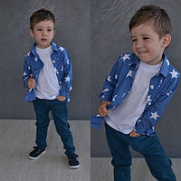 Детская летняя рубашка со звездами