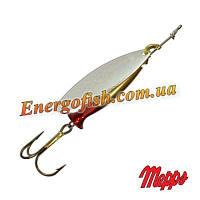 Блесна Mepps Longue Heavy 1 серебро, красный сердечник