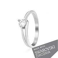 Серебряное кольцо с цирконием SWAROVSKI ZIRCONIA К2С/037 - 15,5