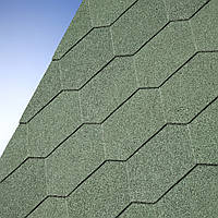 Битумная черепица Number One Hex Tile  Green (Зеленая плитка)