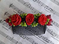"""Гребінець """"Червоні троянди"""""""