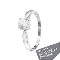 Серебряное кольцо с цирконием SWAROVSKI ZIRCONIA К2С/455 - 17,4