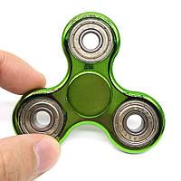 Спиннер хромированный зеленый Антистресс Hand Spinner