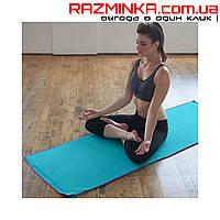 Немецкий коврик (полотенце) для йоги, фитнеса CRANE 183х60см ГОЛУБОЙ ЦВ.