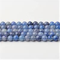 Натуральный Голубой Авантюрин, бусины 8 мм, Шар, Отверстие 1 мм, количество: 47-48 шт/нить