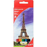 Карандаши цветные Kite 12цв трехгранные Города K17-053-2
