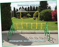 """Велопарковка  """"Дабл-Байк - 7""""  с рекламной рамкой"""