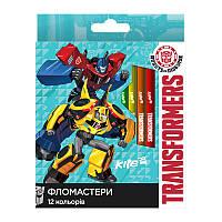 Фломастеры Kite 12 цветов Transformers TF17-047