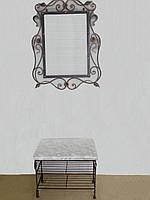 Кованый набор мебели в прихожую  -  024